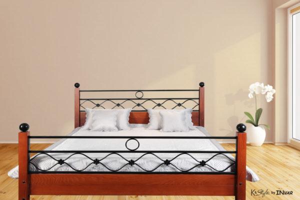 Exclusive - Krevet izrađen kombinacijom punog drvete i kovanog gvožđa
